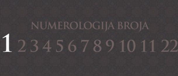 Numerologija za broj 1