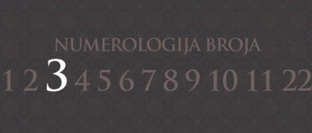 Numerologija za broj 3