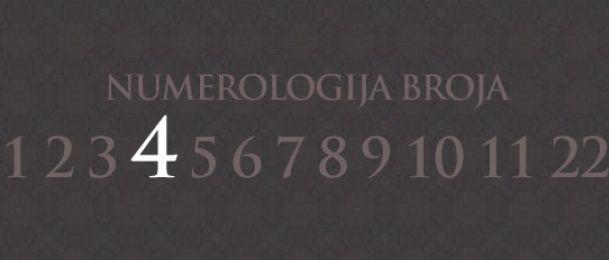 Numerologija za broj 4