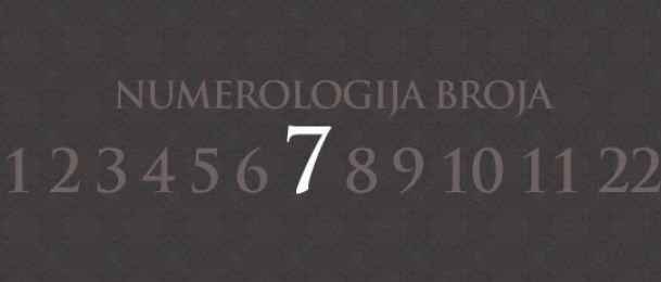 Numerologija za broj 7