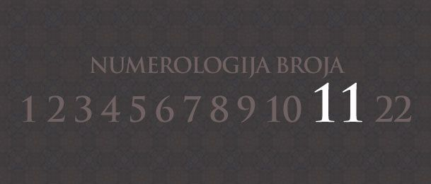 Numerologija za broj 11